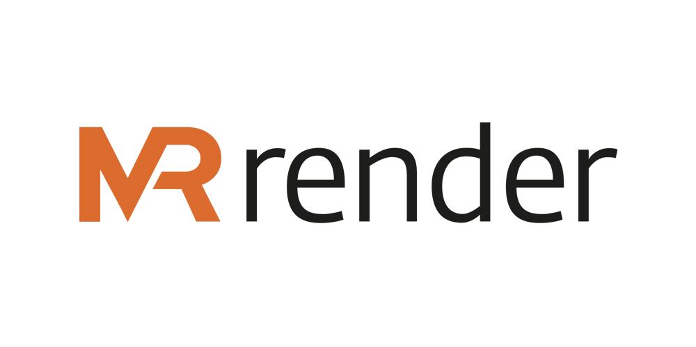 MRstudios MRrender sign with white background
