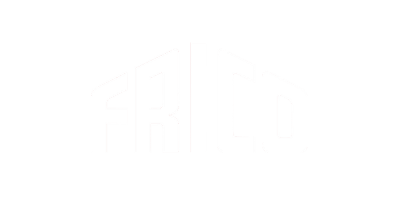 FRICO logo in white without the background.